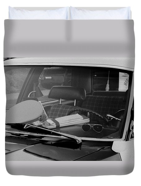 The Office On Wheels Duvet Cover