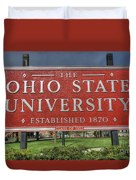 The Ohio State University Duvet Cover