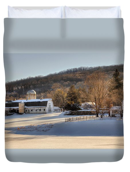 The Ol Homestead Duvet Cover by Bill Wakeley