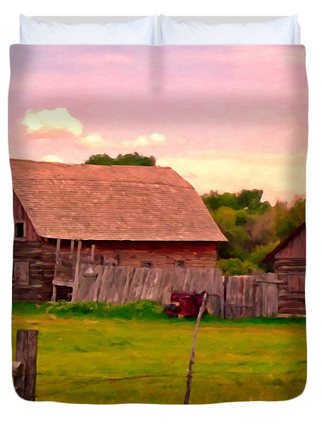 The Old Barn Duvet Cover by Michael Pickett