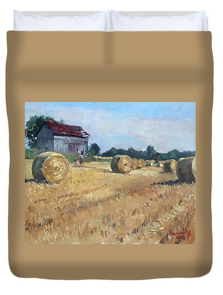 The Old Barns In Georgetown On Duvet Cover by Ylli Haruni