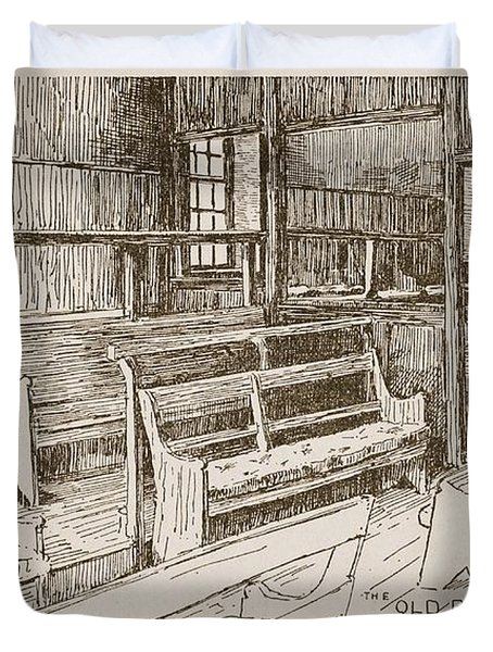 The Old Birmingham Meeting House, 1893 Duvet Cover by Walter Price