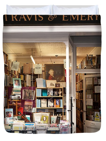 The Old Bookshop Duvet Cover