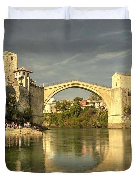 The Old Bridge At Mostar Duvet Cover