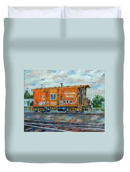 The Old Caboose Duvet Cover
