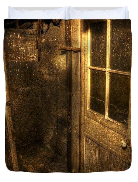 The Old Cellar Door Duvet Cover by Dan Stone