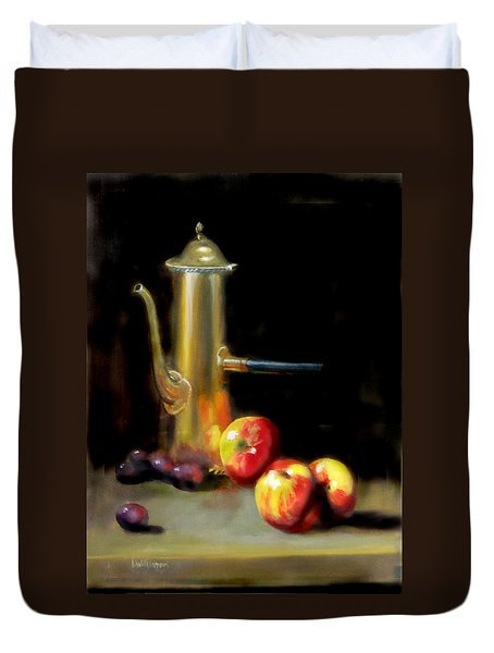 The Old Coffee Pot Duvet Cover by Barry Williamson