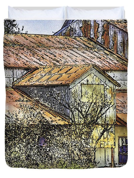 The Old Cotton Barn Duvet Cover by Barry Jones