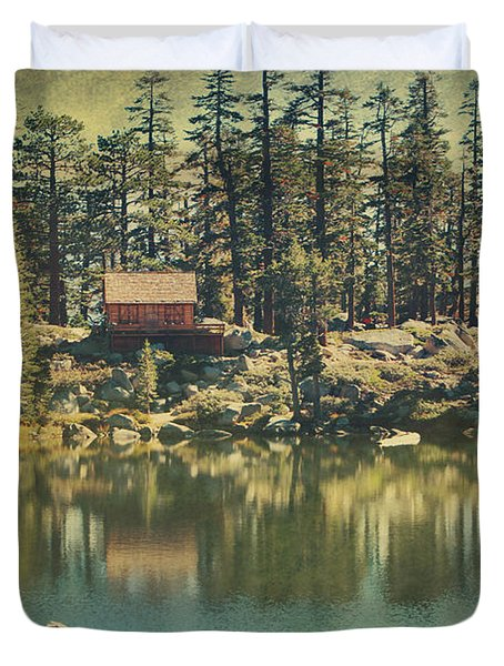 The Old Days By The Lake Duvet Cover