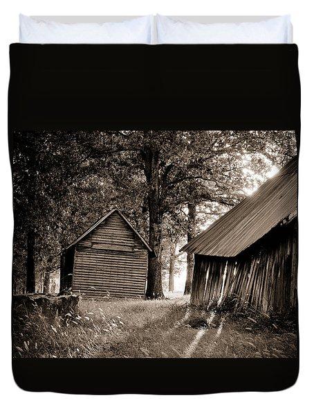 The Old Farm At Sunrise Duvet Cover