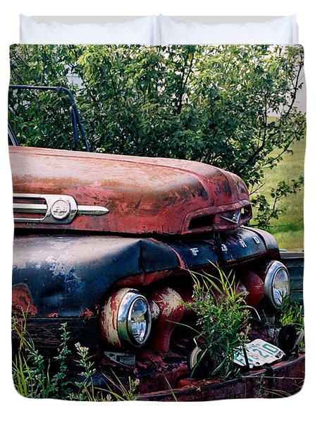 The Old Farm Truck Duvet Cover