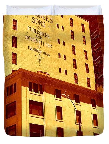 The Old Good Days In Manhattan Duvet Cover