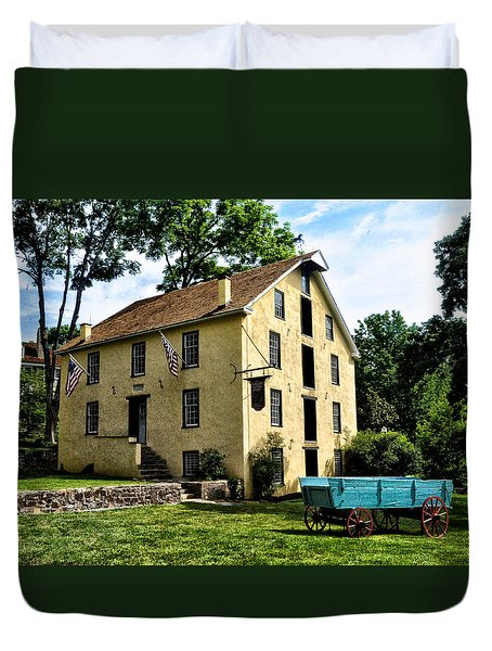 The Old Grist Mill  Paoli Pa. Duvet Cover by Bill Cannon