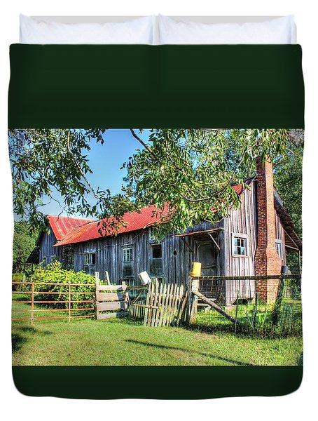 Duvet Cover featuring the photograph The Old Home Place by Lanita Williams