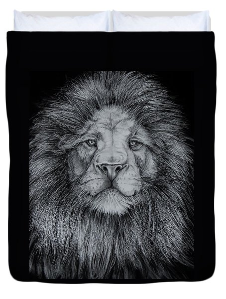 The Old Lion Duvet Cover by Jean Cormier