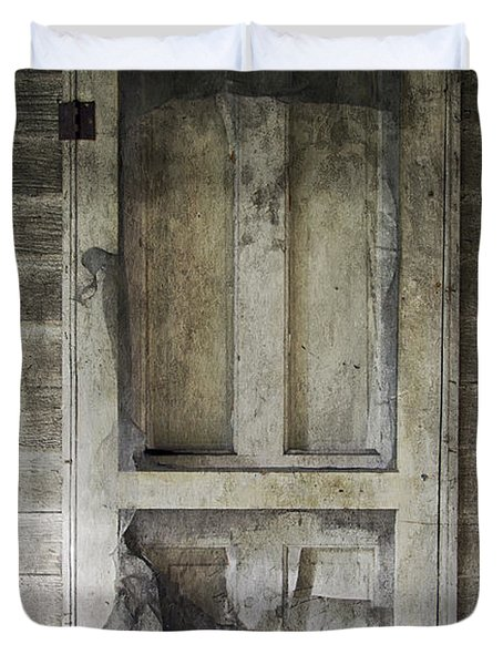 The Old Lowman Door Duvet Cover by Brian Wallace