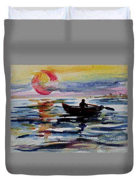 The Old Man And The Sea Duvet Cover