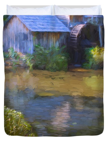 The Old Mill At Mabry Duvet Cover