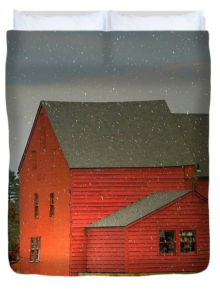 The Old Mill Kirby Pond Duvet Cover by Diana Angstadt