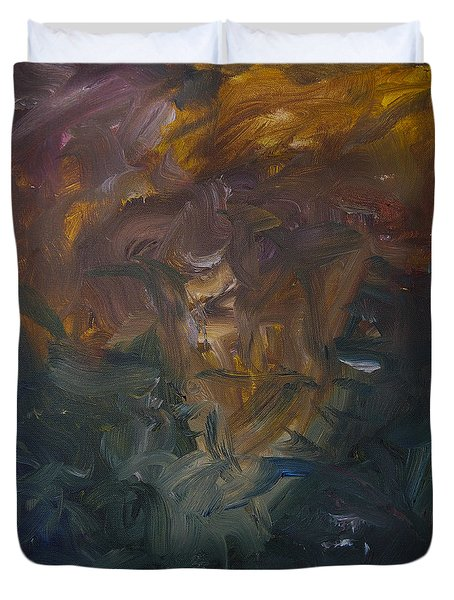 The Old Monarch Duvet Cover