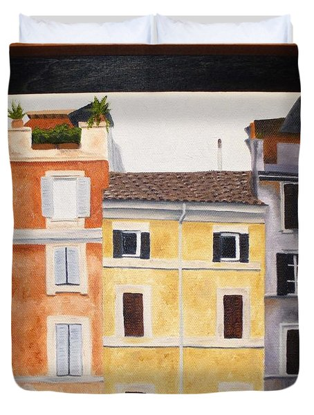The Old Neighborhood Duvet Cover by Karin Thue