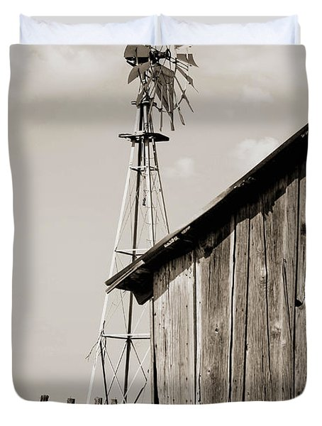 Duvet Cover featuring the photograph The Old Ranch by Amber Kresge