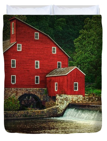 The Old Red Mill Duvet Cover