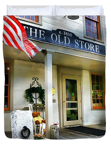 The Old Store Duvet Cover by Diana Angstadt