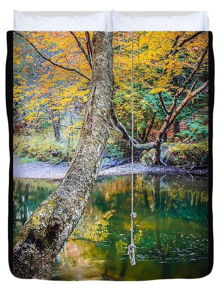 The Old Swimming Hole Duvet Cover by Edward Fielding