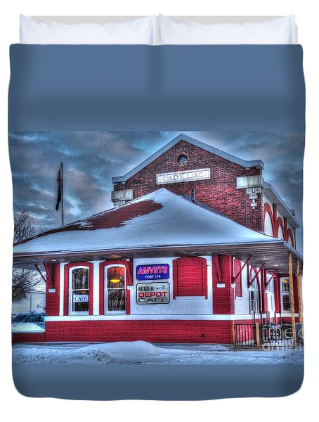 The Old Train Station Duvet Cover by Terri Gostola