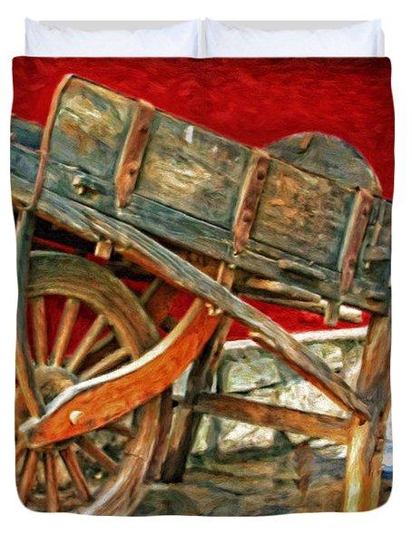 The Old Wheelbarrow Duvet Cover by Michael Pickett