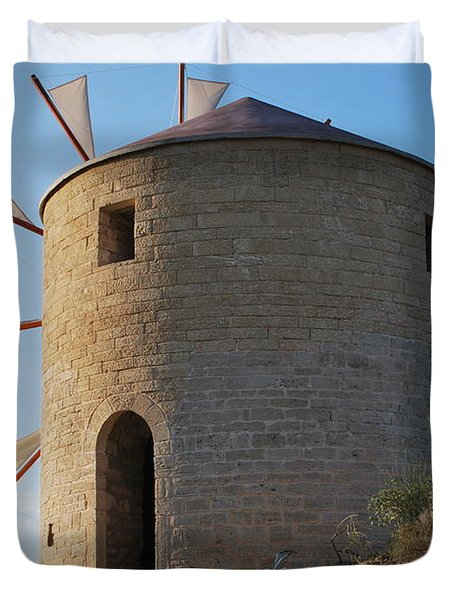 The Old Windmill 1830 Duvet Cover