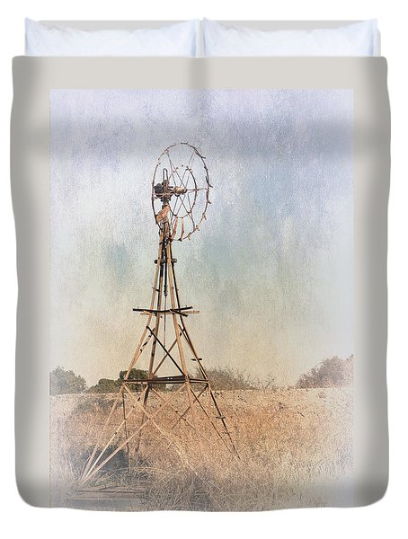 The Old Windmill Duvet Cover by Elaine Teague