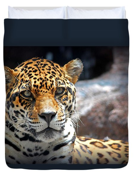 Duvet Cover featuring the photograph The Ole Leopard Don't Change His Spots by Lynn Sprowl