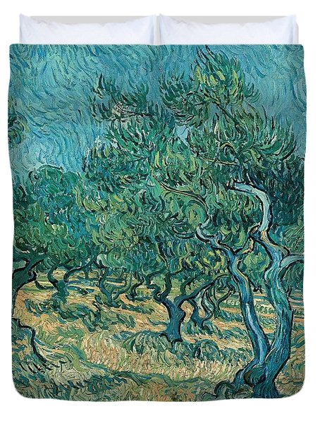 The Olive Grove Duvet Cover by Vincent van Gogh