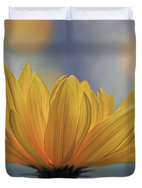 The One Who Dances With Light Duvet Cover by Maria Ismanah Schulze-Vorberg