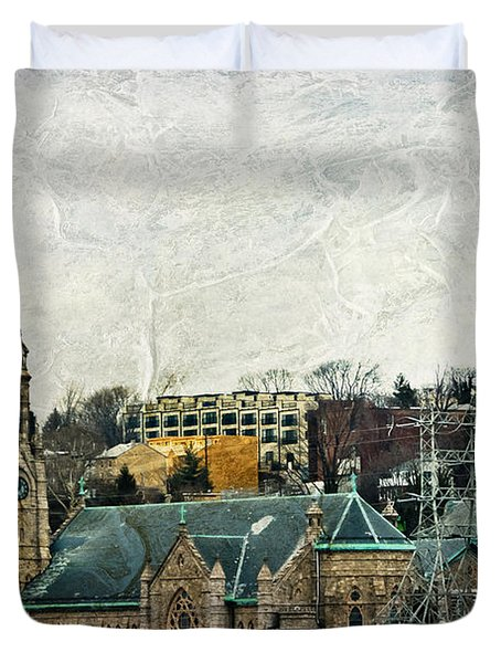The Only Good Thing About The Highway Is The Scenery Duvet Cover by Trish Tritz