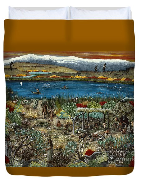 The Oregon Paiute Duvet Cover