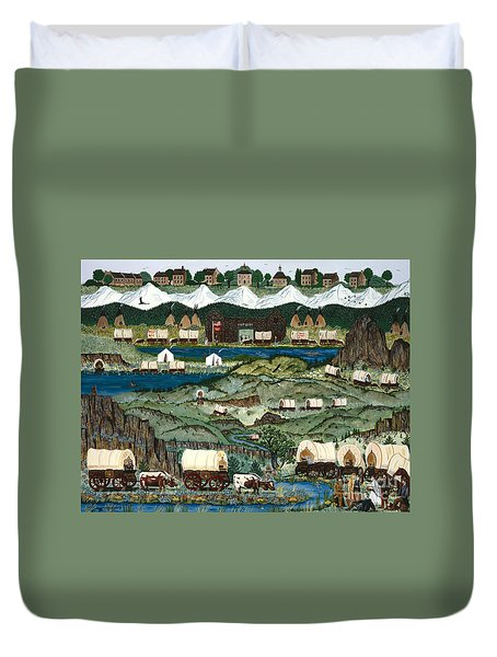 The Oregon Trail Duvet Cover