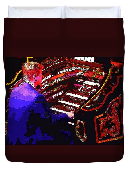 The Organ Player Duvet Cover