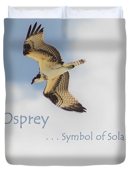 Duvet Cover featuring the photograph The Osprey by DigiArt Diaries by Vicky B Fuller