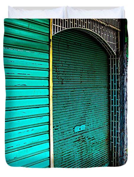 Marrakech Aqua Duvet Cover