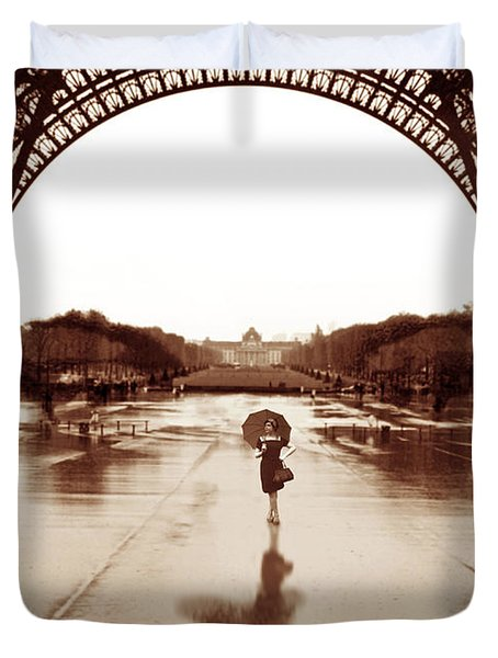 The Other Face Of Paris Duvet Cover