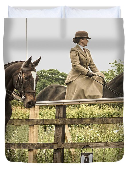 The Other Side Of The Saddle Duvet Cover