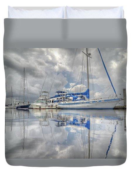 The Outer Pier Duvet Cover by John Adams