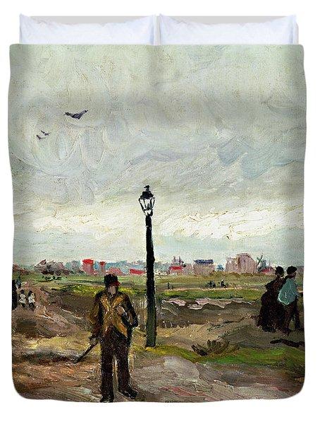 The Outskirts Of Paris Duvet Cover by Vincent van Gogh