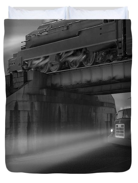 The Overpass Duvet Cover by Mike McGlothlen