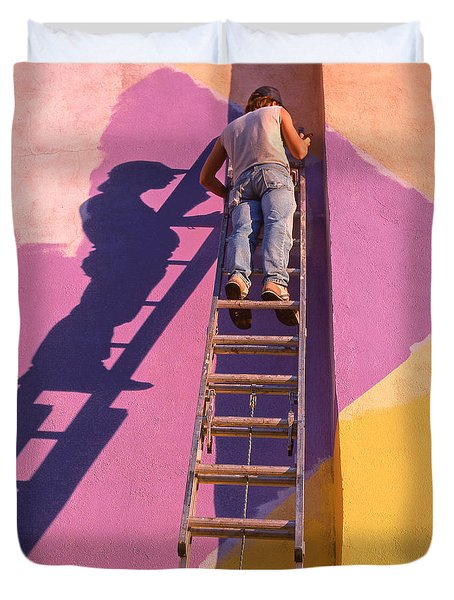 The Painter Duvet Cover by Don Spenner