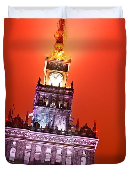 The Palace Of Culture And Science Warsaw Poland  Duvet Cover by Michal Bednarek