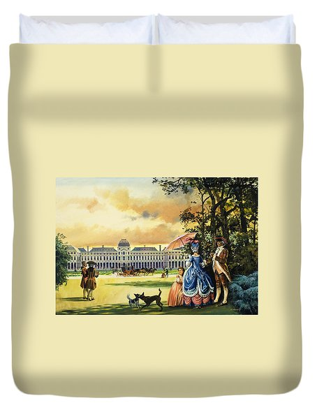 The Palace Of The Tuileries Duvet Cover by Andrew Howat